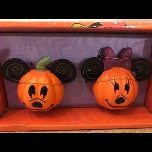 Disney Pumpkin Mickey Mouse Salt Pepper Shakers